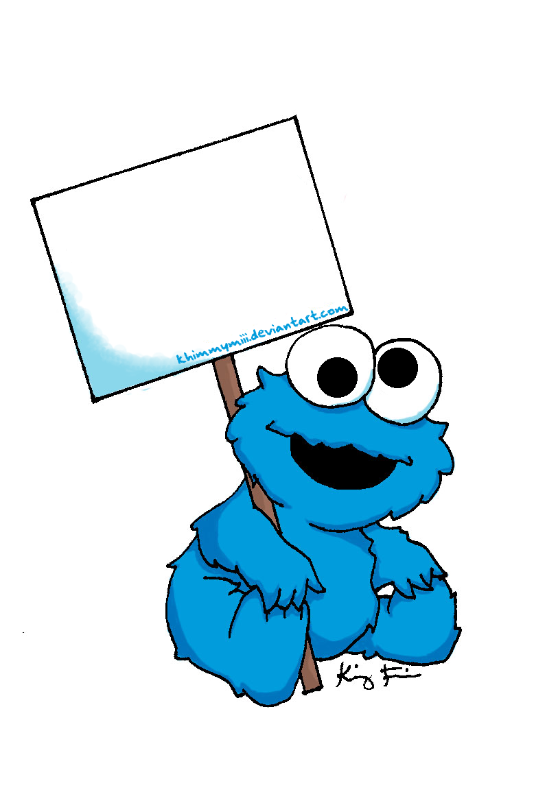 813x1171 Baby Cookie Monster Sign By Khimmymiii