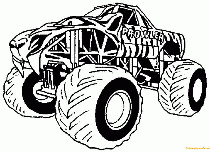 Monster Truck Line Art