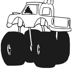 300x300 Monster Truck Inferno Coloring Page Monster Truck Inferno