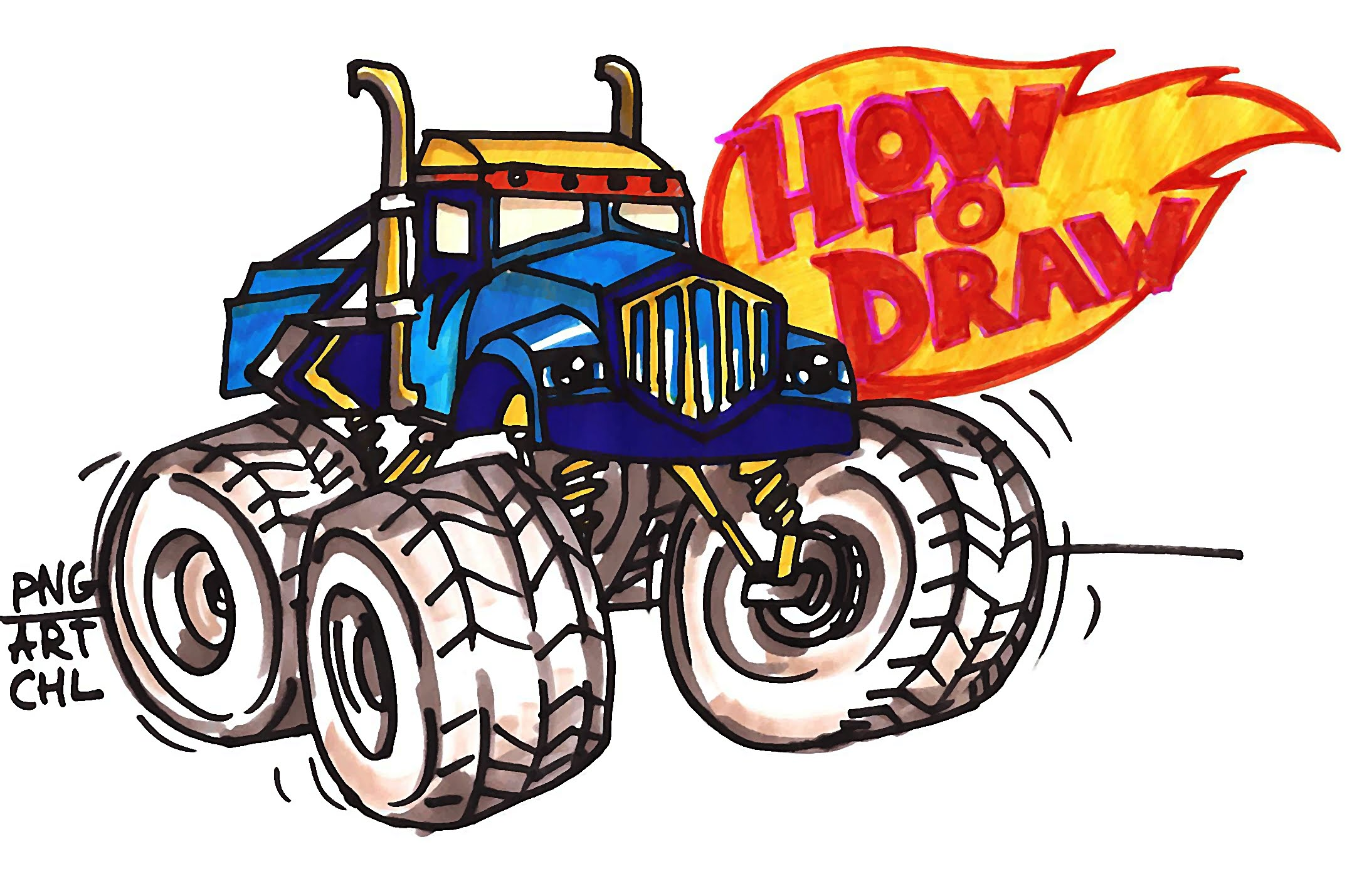 2156x1429 How To Draw Crusher From Blaze And The Monster Machines