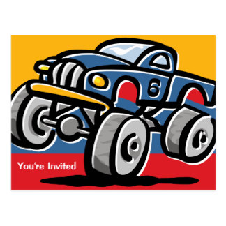 324x324 Monster Truck Postcards Zazzle