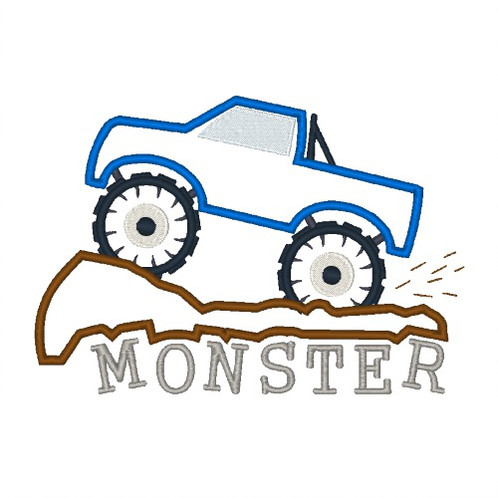 498x498 Monster Trucks Machine Embroidery Cross Stitch Embroiddesigns