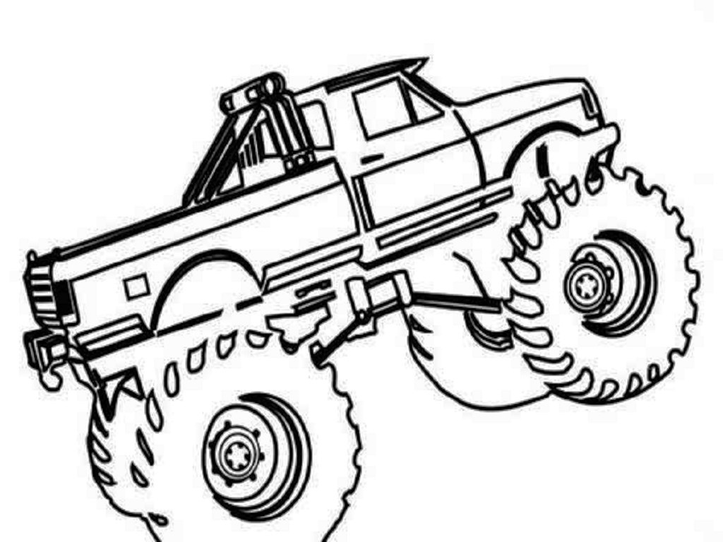 1024x768 Monster Trucks Coloring Pages