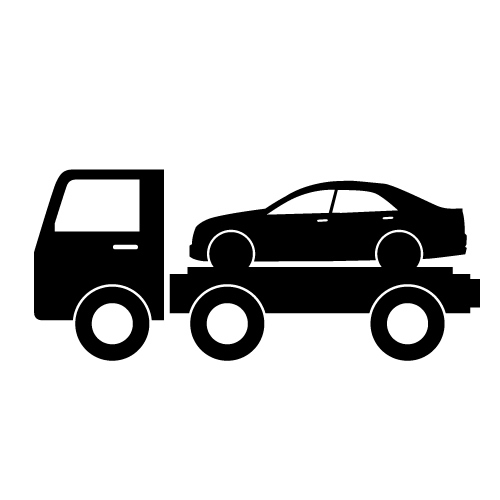 500x500 Roll Back Tow Truck Clipart
