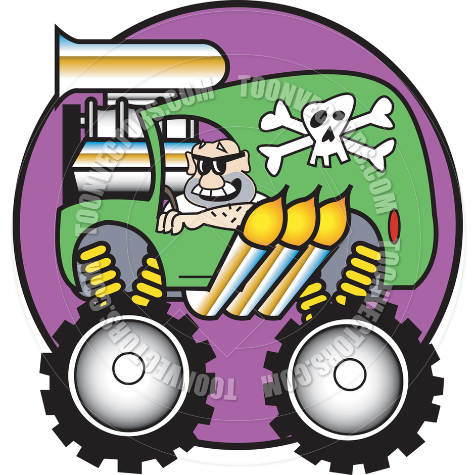 940x940 Cartoon Monster Truck Vector Illustration By Clip Art Guy Toon