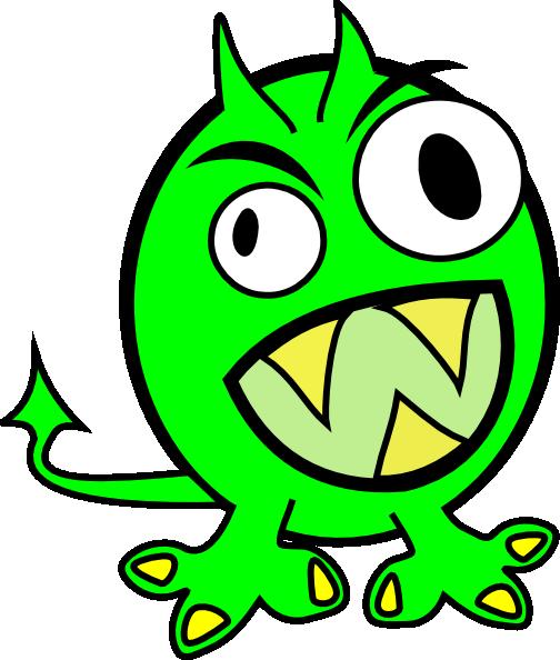 504x594 Lime Green Monster Clip Art