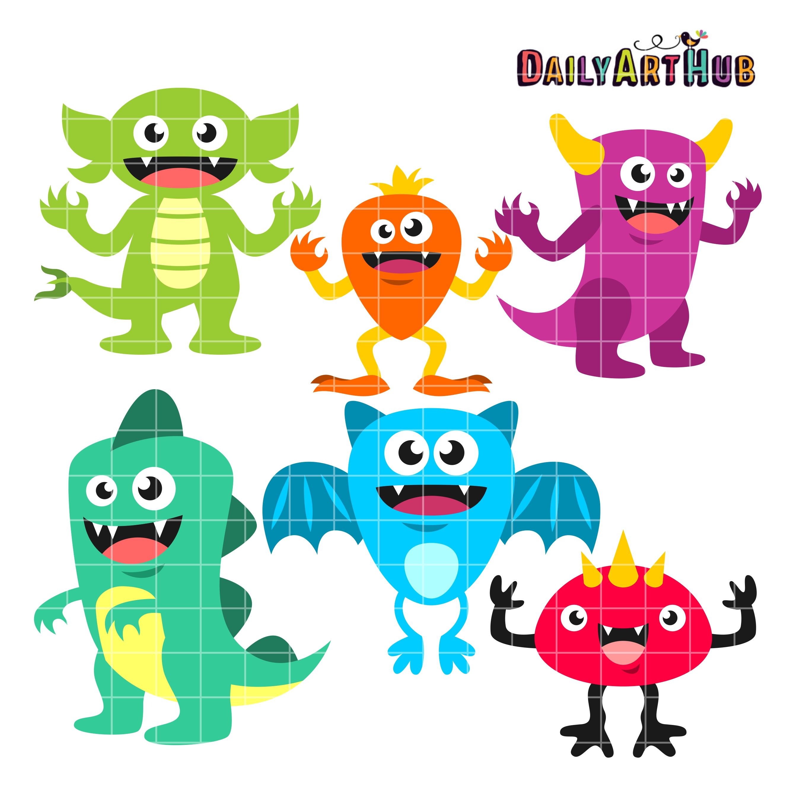2664x2670 Monsters Clip Art