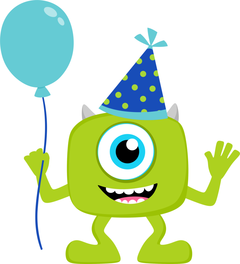 818x900 Monsters Inc Birthday Clipart
