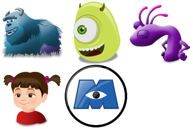 390x260 Monsters Inc Iconset (5 Icons) Iconshock
