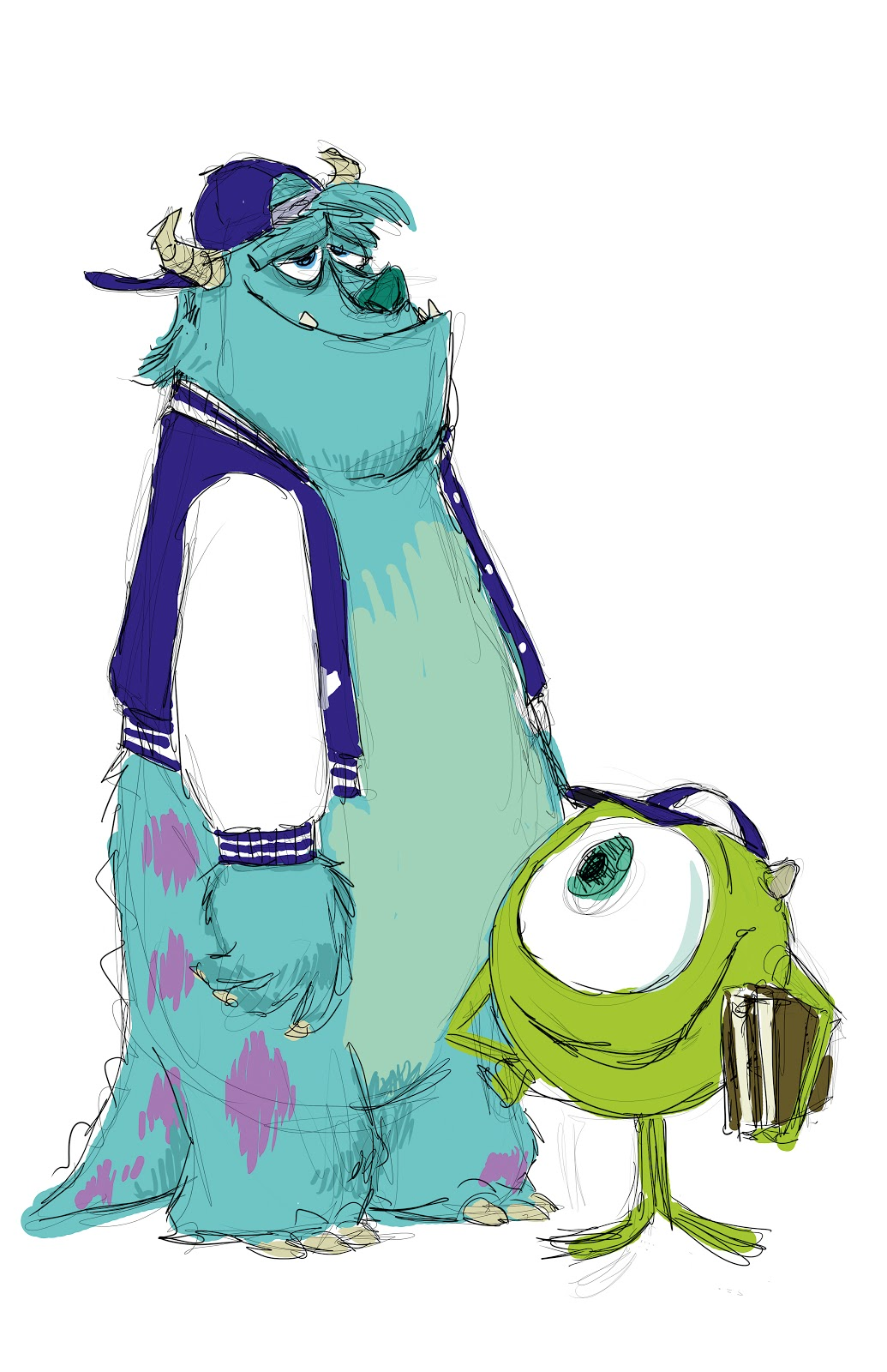 1035x1600 Additional Monsters University Concept Art Pixar Post