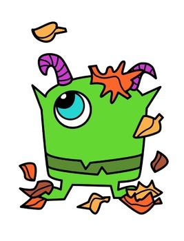 267x350 Fall Monsters Clipart By Splashy Pix Teachers Pay Teachers