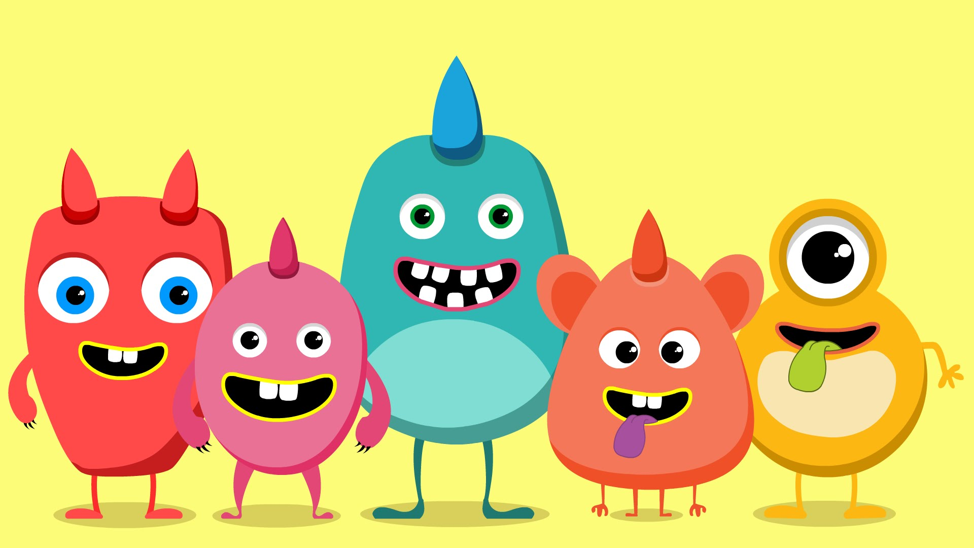 1920x1080 Five Little Monsters Monsters Song Kids Rhymes