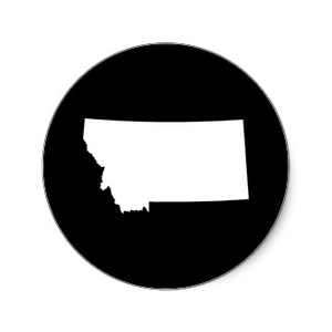 300x300 Montana In White And Black Round Stickers P En F Free Images