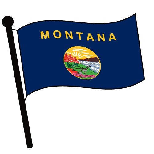 500x500 Montana Waving Flag Clip Art