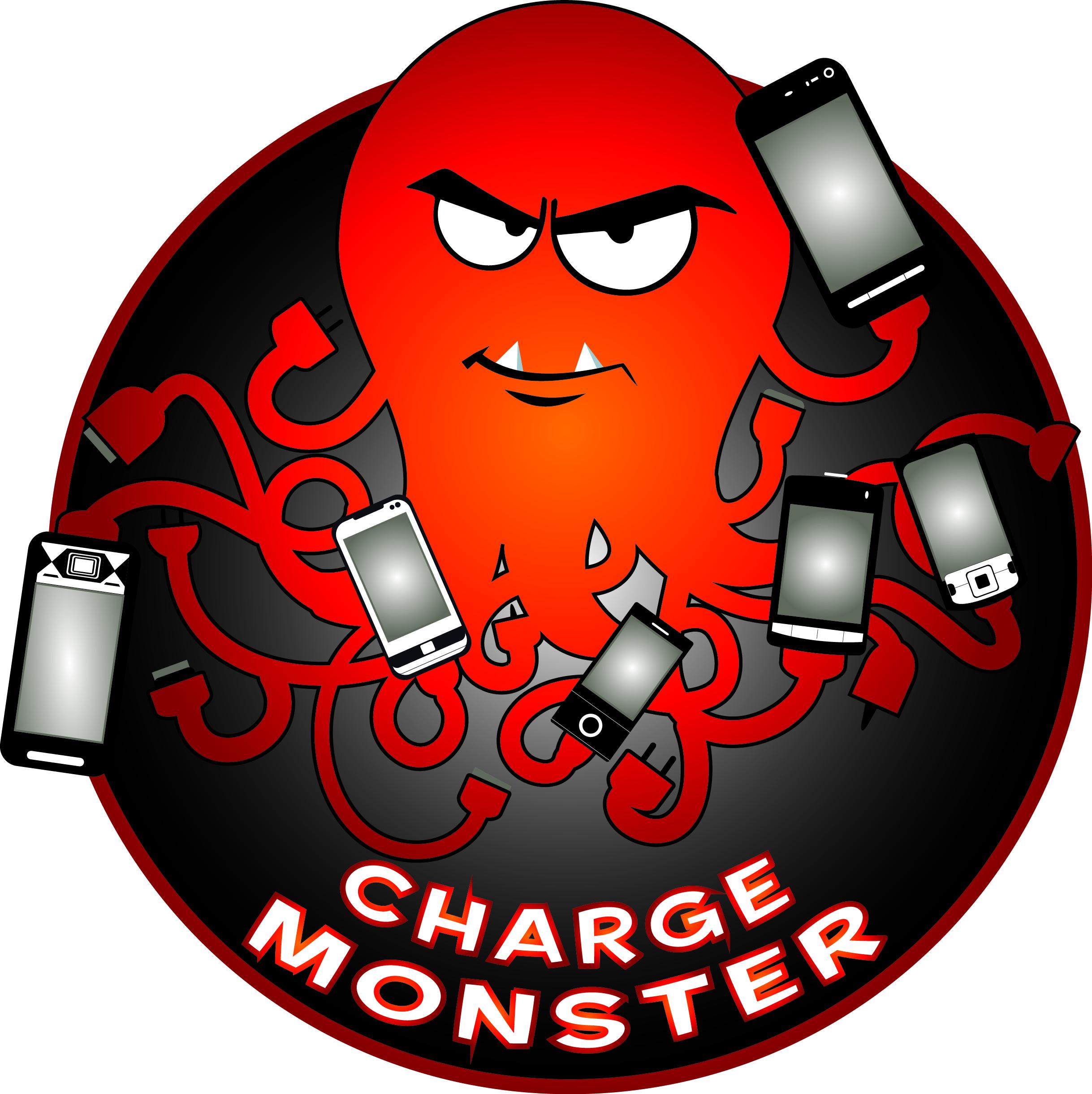 2437x2442 Amplify Design Charge Monster Logo Design Amplify Design