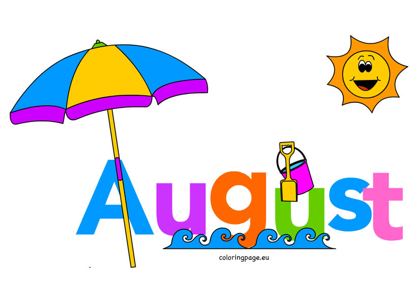 822x595 Month of august clip art loring page