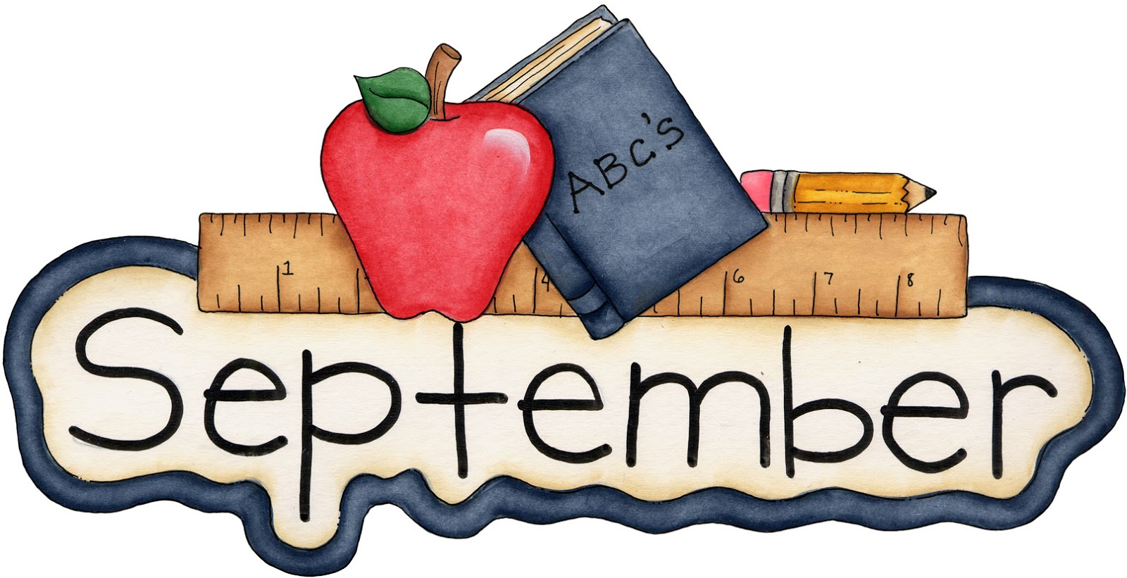 1600x821 Month Of September Clipart Kid