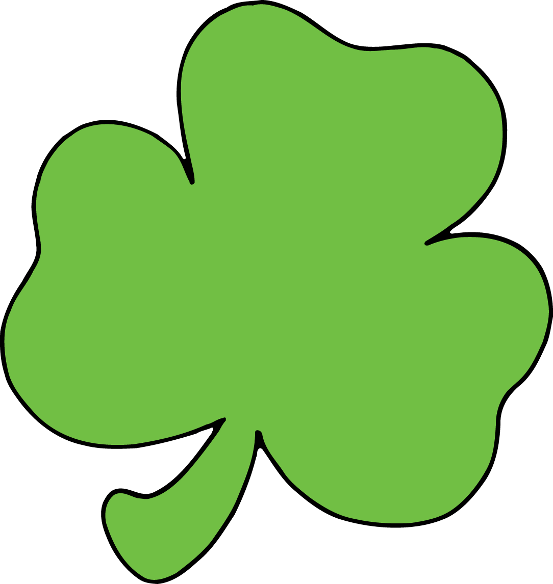 1084x1146 Shamrock Month By Month Clip Art Image