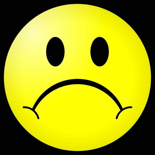 600x600 Frowny Face Clip Art