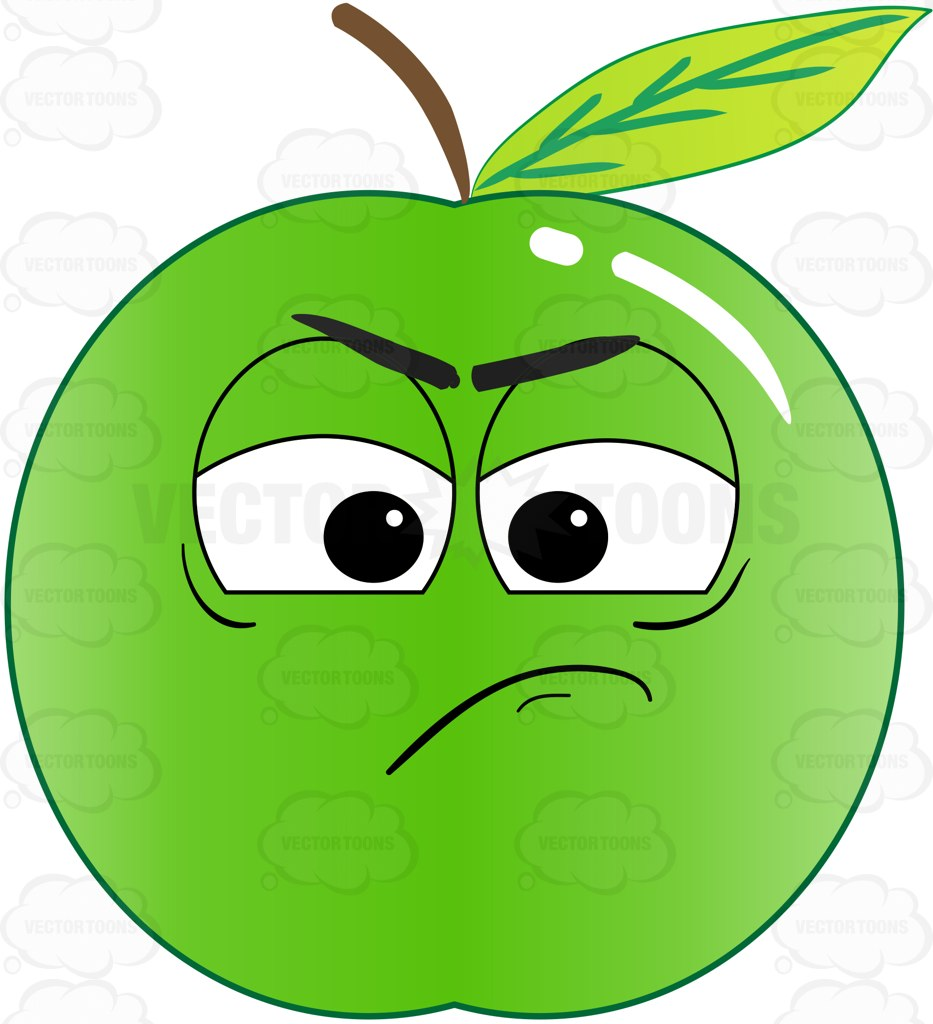 933x1024 Green Apple Sulking And In A Bad Mood Emoji Cartoon Clipart