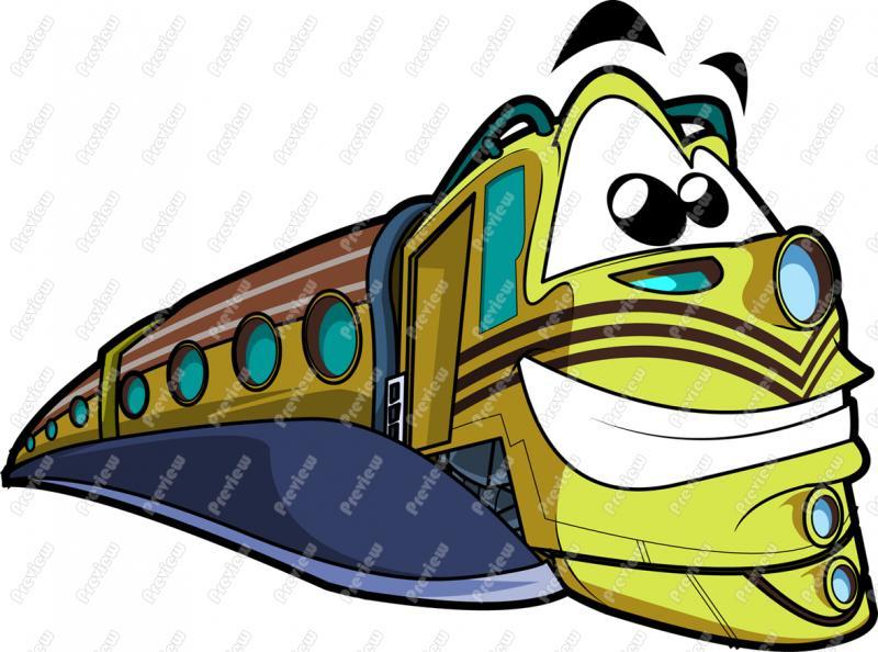 800x594 Train Character Clip Art
