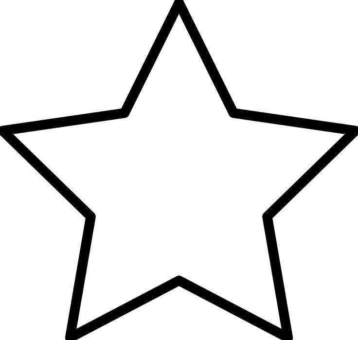 736x699 Best Shooting Star Clipart Ideas Star Outline