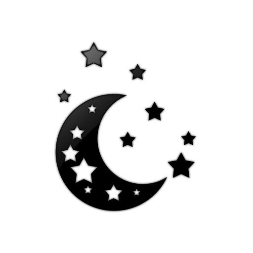512x512 Moon Black And White Stars Moon Clipart