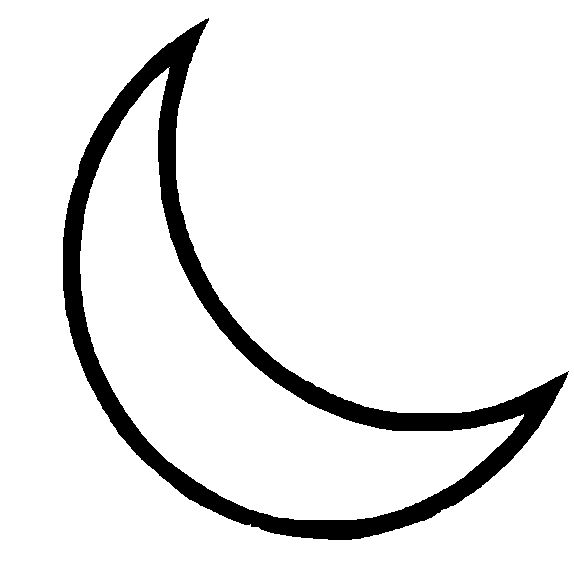 Moon Black And White Clipart