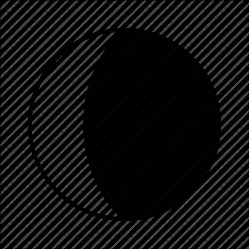 512x512 Waning Crescent Moon Clip Art Cliparts