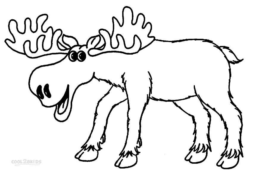 850x580 Excellent Moose Coloring Pages 92 For Coloring Print With Moose