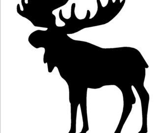 340x270 Moose Antler Stencil Etsy