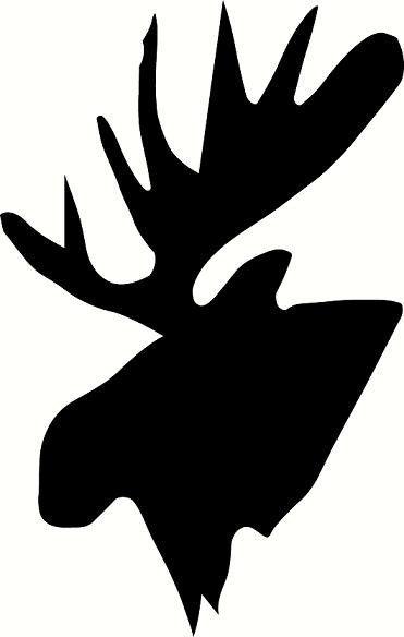 371x584 Best Moose Head Ideas Moose Silhouette, Stag