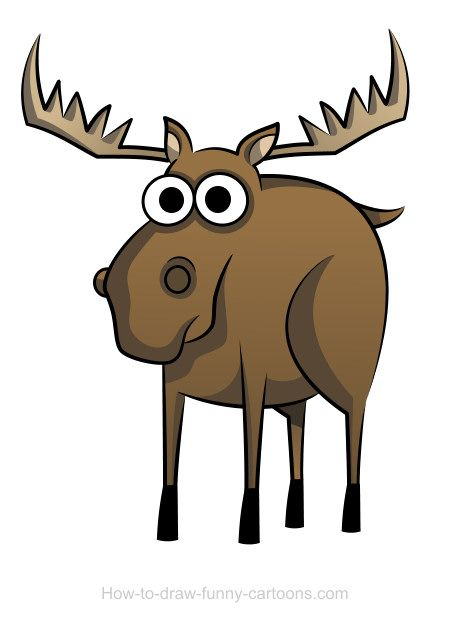 450x622 38 Best Cartoon Moose Tattoos Images Art Lessons