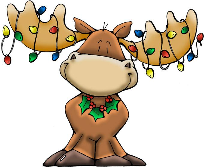 680x558 Free Christmas Moose Clipart Image