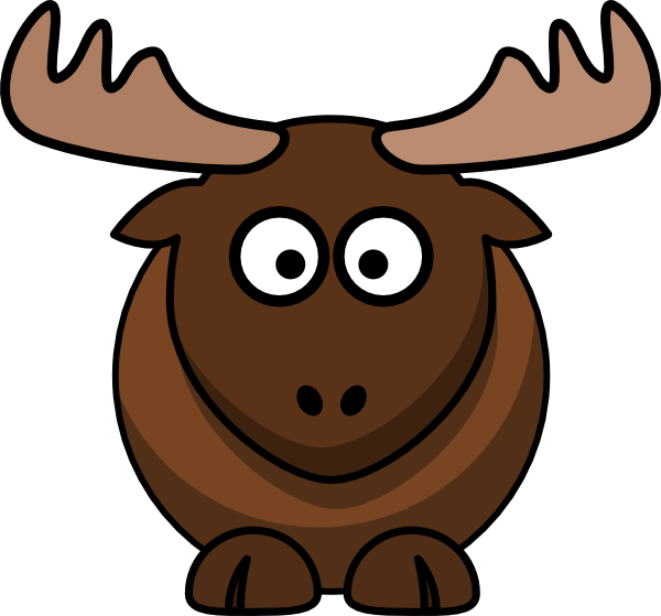 600x559 Free Moose Clipart Image