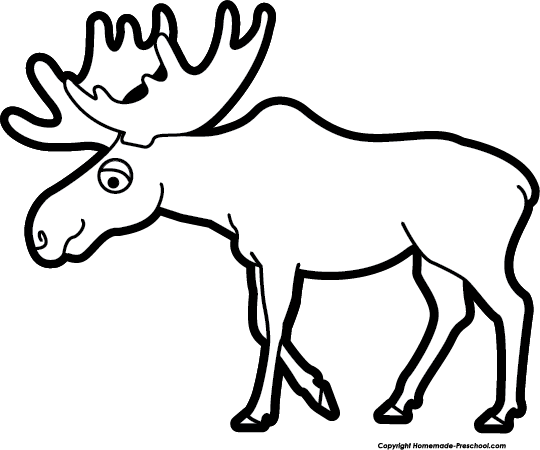 540x450 Free moose clipart 2