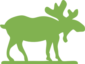 298x225 Green Moose Clip Art