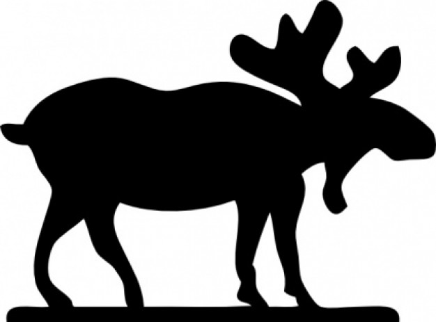 626x463 Moose Sihouette Clip Art Clipart Panda
