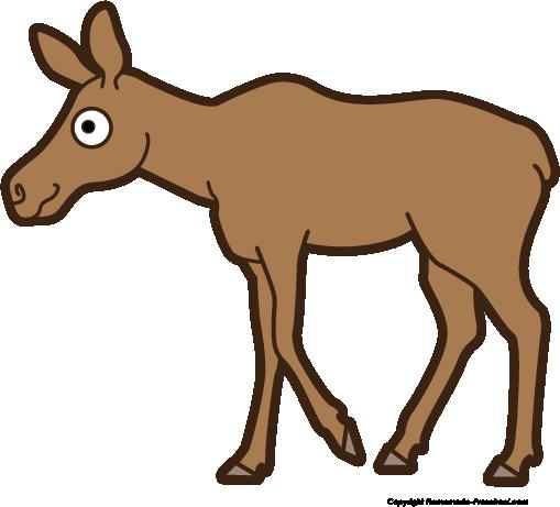 509x461 Moose Clip Art Free Vector 4vector