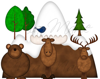 340x270 Moose Clipart 7