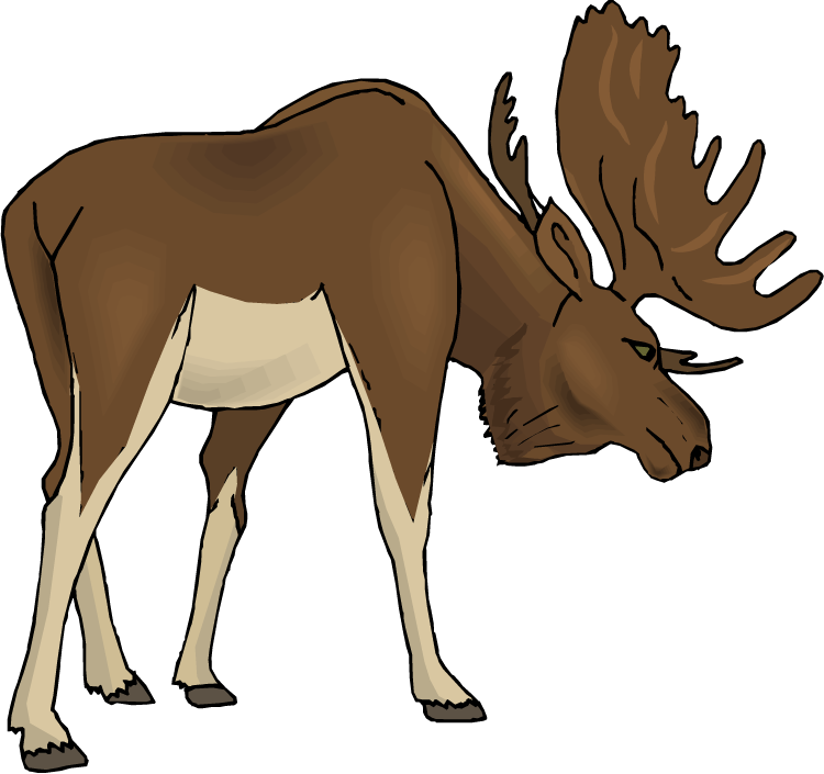 750x705 Moose clipart cartoon free clipart images 5