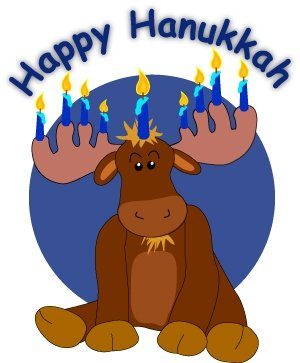 300x363 Moose Clipart Holiday