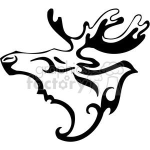 300x300 Royalty Free Wild Moose Clip Art 092 385440 Vector Clip Art Image