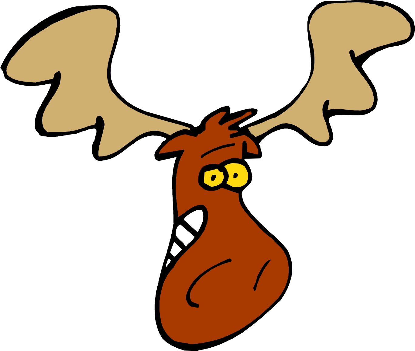 1366x1153 Cartoon Moose Head Clip Art Graphics Clipart Ajilbabcom Portal