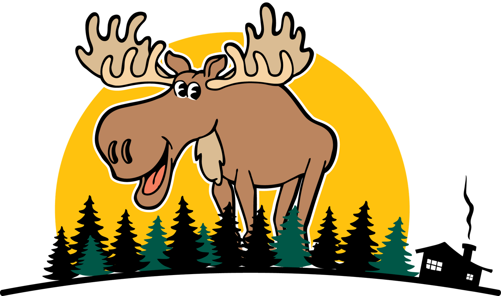 1600x946 Moose Clipart Moose Tracks