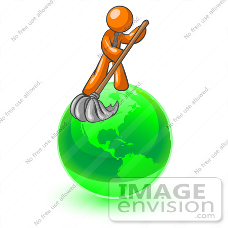 450x450 Cliprt Graphic Ofn Orange Guy Character Mopping Up Mess On