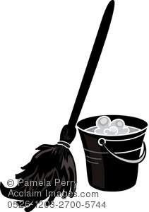 211x300 Art Illustration Of Mop And Bucket In Silhouette