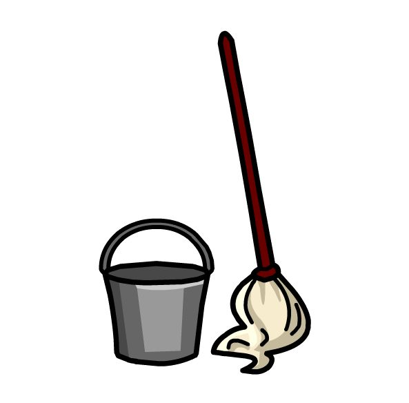 593x584 Free Mop And Broom Clipart