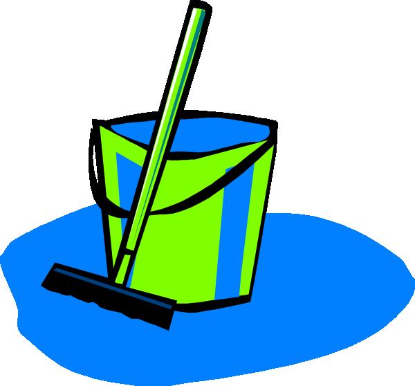 600x558 Mop And Bucket Blue Clip Art