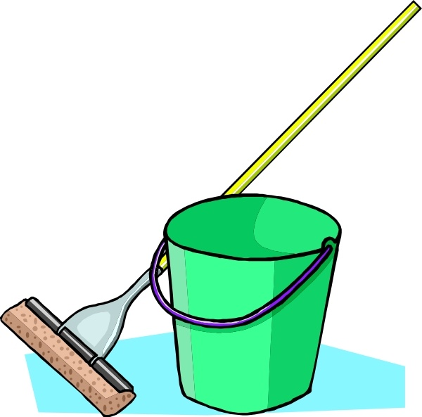 600x593 Mop And Bucket Clip Art Free Vector In Open Office Drawing Svg